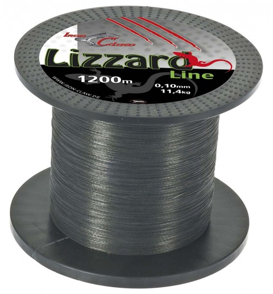 Iron Claw Lizzard Line 0,03 1200m Grey