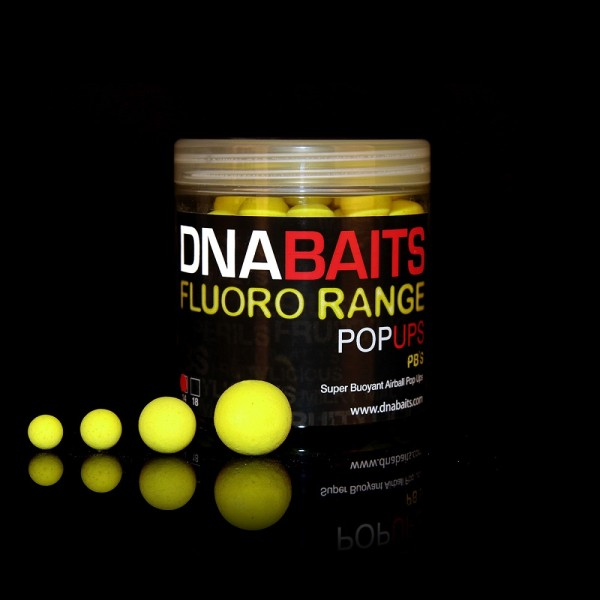 DNA Baits Fluoro Pop Up PBs 12mm
