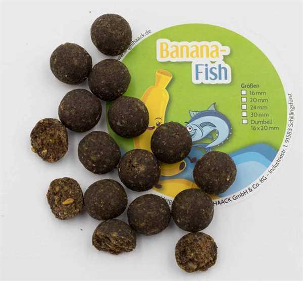 AngelHAACK Bait Range Banana-Fish Boilie 1kg