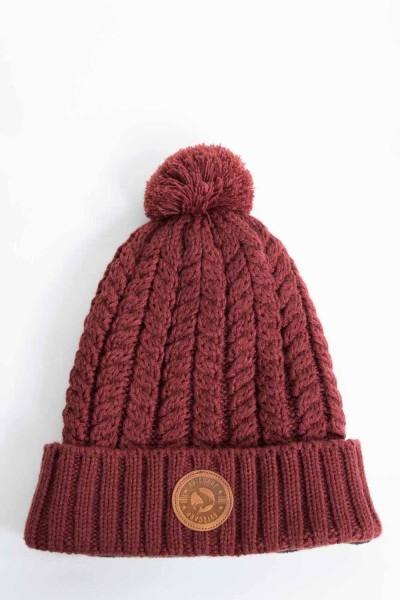 Avid Carp Bobble Hat - Burgundy